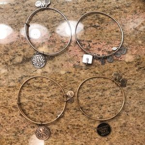 Alex and Ani Gold and Silver Bracelet Bundle